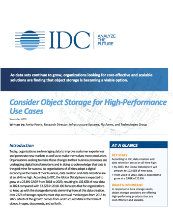 Consider Object Storage for High-Performance Use Cases - Preview